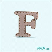 Large 3d sample business wood decoration letter