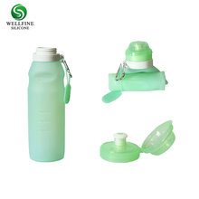 Portable Leak-proof Foldable Collapsible Silicone Travel Water Bottle 500 ml to 600 ml Travel Joyshaker Water Bottle