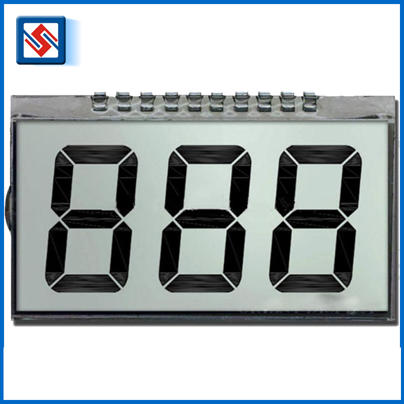 High Quality Small TN Lcd Screen Positive 3 Digit 7 Segment Transflective Lcd Display
