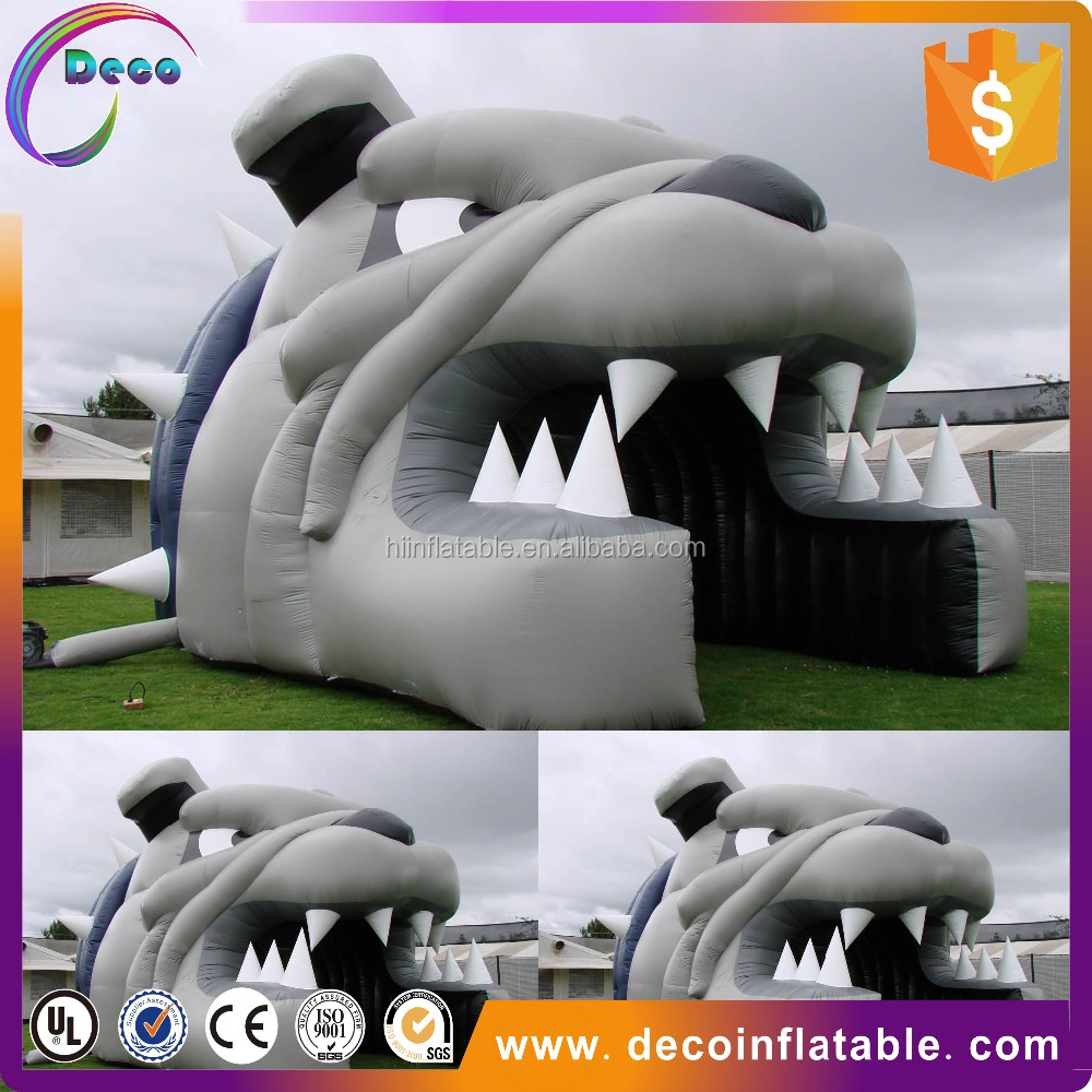 factory outlet inflatable tunnel with dog for advertising