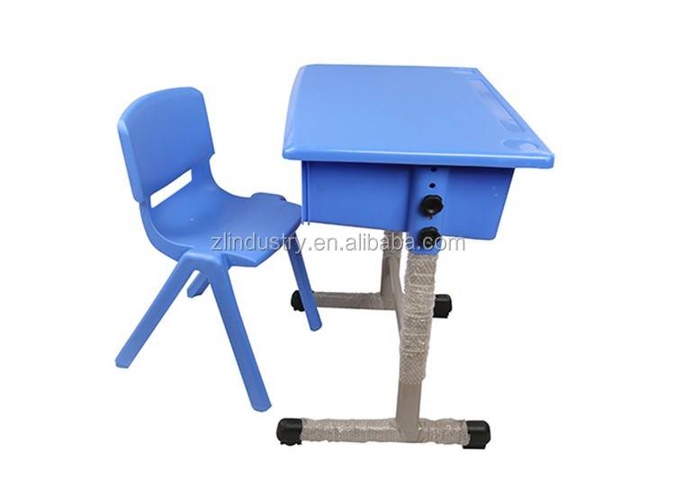China made school classroom single size plastic student desk