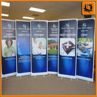 hanging roll up banner pull up scrolling stand full color roll up banner