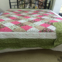 70g microfiber 100% polyester stitch bedspread set patchwork bed cover
