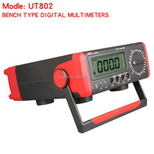 UNI-T UT802 Bench Type Multimeter Digital with Thermometer, Data Hold Automatic Range Ammeter Multitester