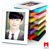 Colourful Plastic Picture Frame 4x6 5x7 6x8 8x10 glass jar wooden lid