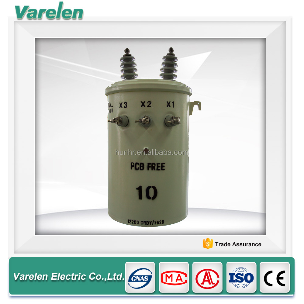10kva electric single phase oil immersed electric transformer for town electric
