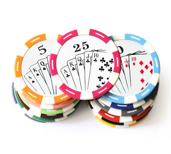 poker chips met sticker plastic munt casino chips bedrukt poker chips