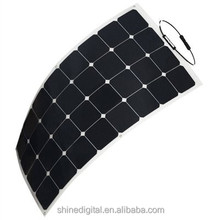 Shenzhen High Efficiency 50w 100w 150w Sunpower Flexible Black Silicon Flexible Solar Panel 100W