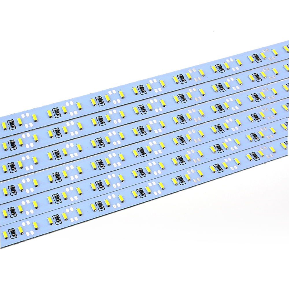 DC 12V 72 144 SMD 5630 4014 2835 7020 8520 LED Hard Rigid LED Strip Bar Light 1m Aluminium