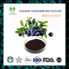 Supply Bilberry extract 25% Anthocyanosides powder