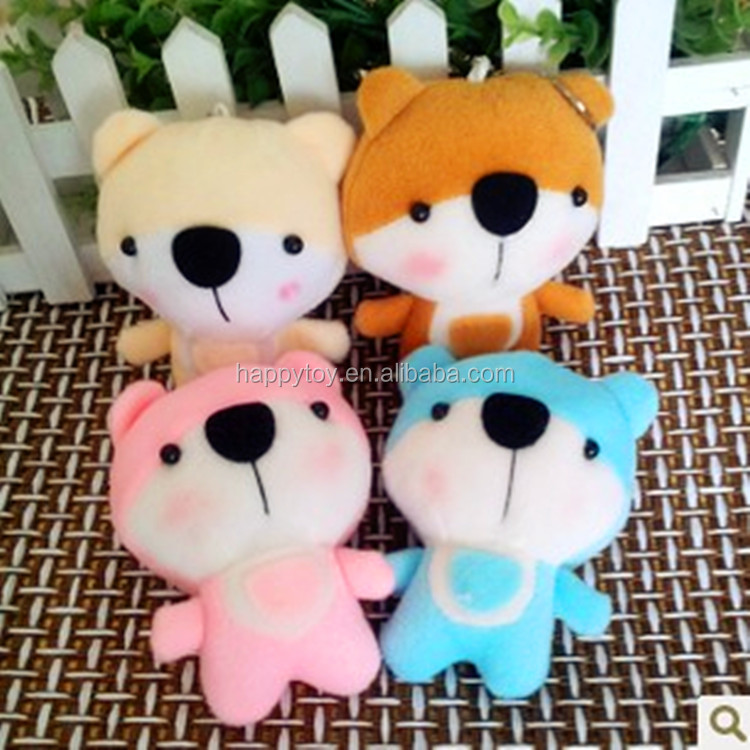 Custom make plush keychain different style animal plush toys with ring