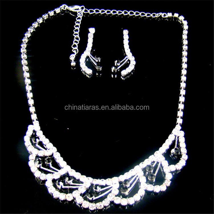 Best selling excellent quality fashion alloy rhinestone jewelry for sale