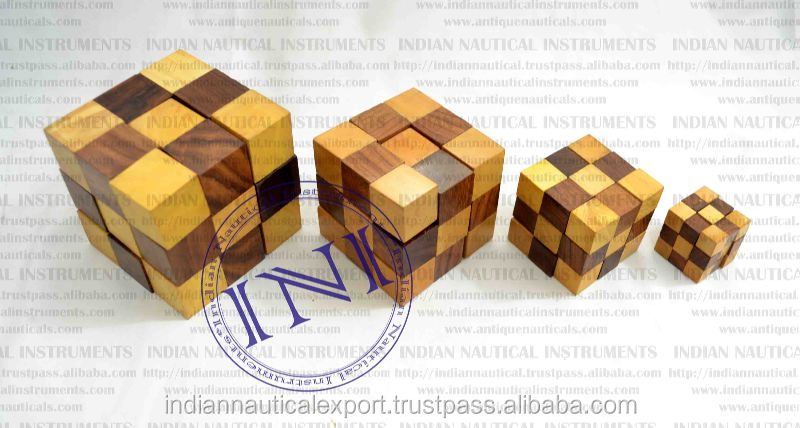 Classical Gift Snake Cube, Wooden Snake Cube Set, Wooden Indoor Game