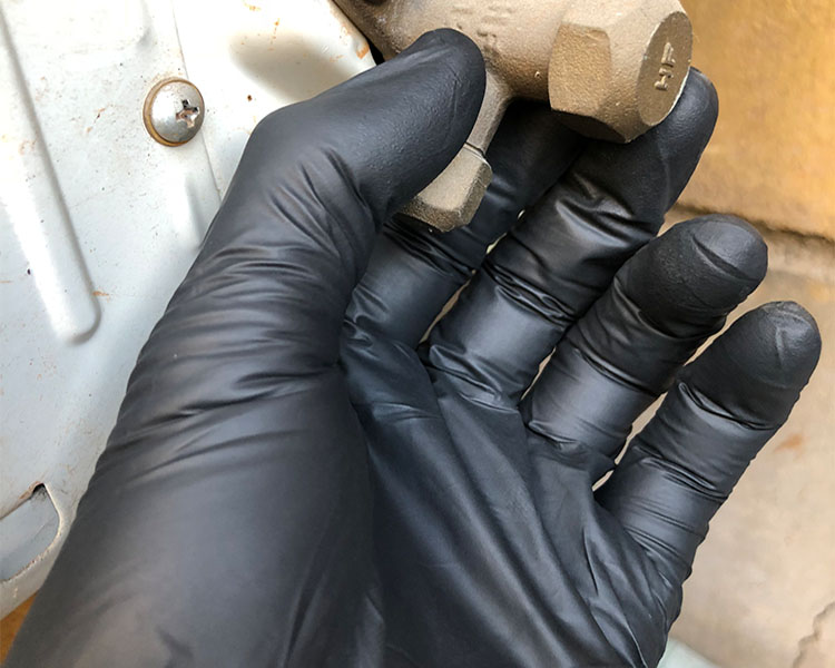 Disposable 6mil black Nitrile <strong>Gloves</strong> for Repair a car