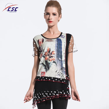 Fancy Design Style Latest and Hot Selling Top Fashion Girl T Shirt