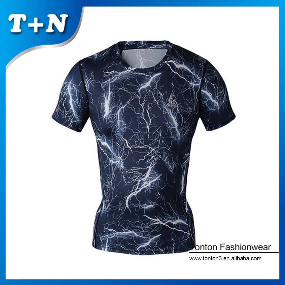Gym Wholesale Custom Compressed T shirts Sublimated Printed T shirts for Men