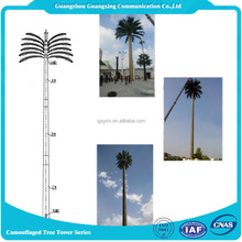 universal Telecommunication Galvanized Camouflaged palm tree steel monople Tower for supporting cellular phone antenna
