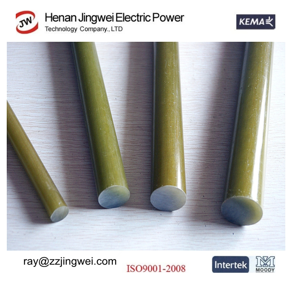 Epoxyhars glasvezel isolatie staaf voor siliconenrubber for Fiberglass insulator