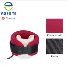 Orthopedic neck traction device, inflatable neck pillow, neck traction physical therapy