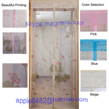 100% polyester printing decorative mosquito net door screen curtain for child