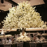 New style silk sakura flower artificial indoor cherry blossom tree for table centerpieces