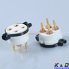 High temperature resistance 4Pin 2A3 300B 274A CMC Ceramic Gold Tube Socket