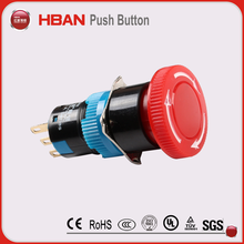 16mm emergency door release latching push button switch