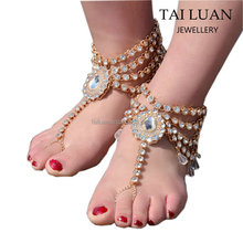 Fashion crystal wedding barefoot sandals 2017 women new design anklet