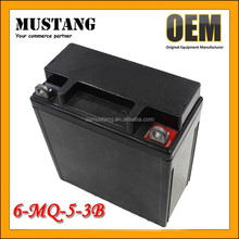 Battery Manufactory Dry Charged 12V 5AH Motorcycle Battery for 6-MQ-5-3B