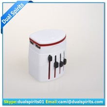 double adapter plug with usb universal adapter plug supplier