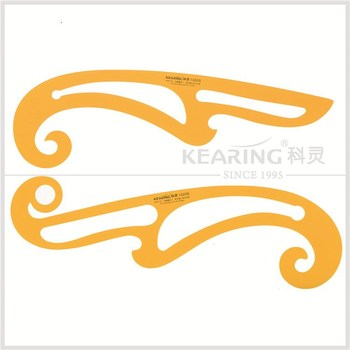 Kearing brand, high quality 1300S french curve, set of 2 french curves, inking edges on all sides, for fashion design #1300S