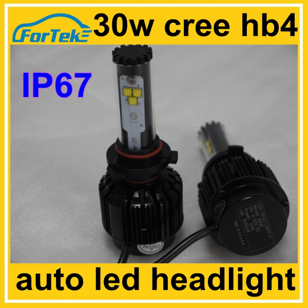 IP67 cree 30w super vision auto led head lamp 9006 hb4 3000LM for original halogen replacement