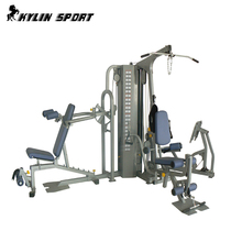 Three Station Home Gym Multifunctional Trainer With 90kg*2 Iron Weight Stack