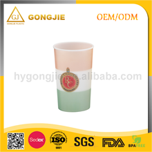 16oz BPA Free customized printing Double Wall Hard Plastic Cup with Lid and Straw/OEM 450ml safety clear plastic beer cup