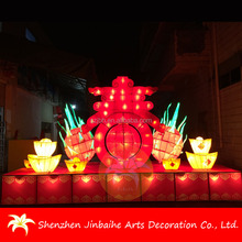 luminous artificial silk spring festival fruit lanterns decorative