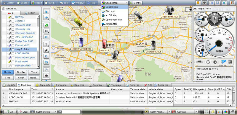 auto gps tracking software platform with gps gsm positioning