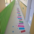 kindergarten paving printed PVC flooring