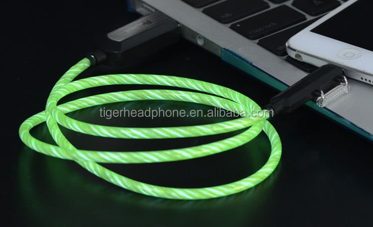 Muticolor Electro luminescent Light EL USB Cable Wholesale Super Bright EL Wire Promotional Sale Advertisement EL wire USB Cable