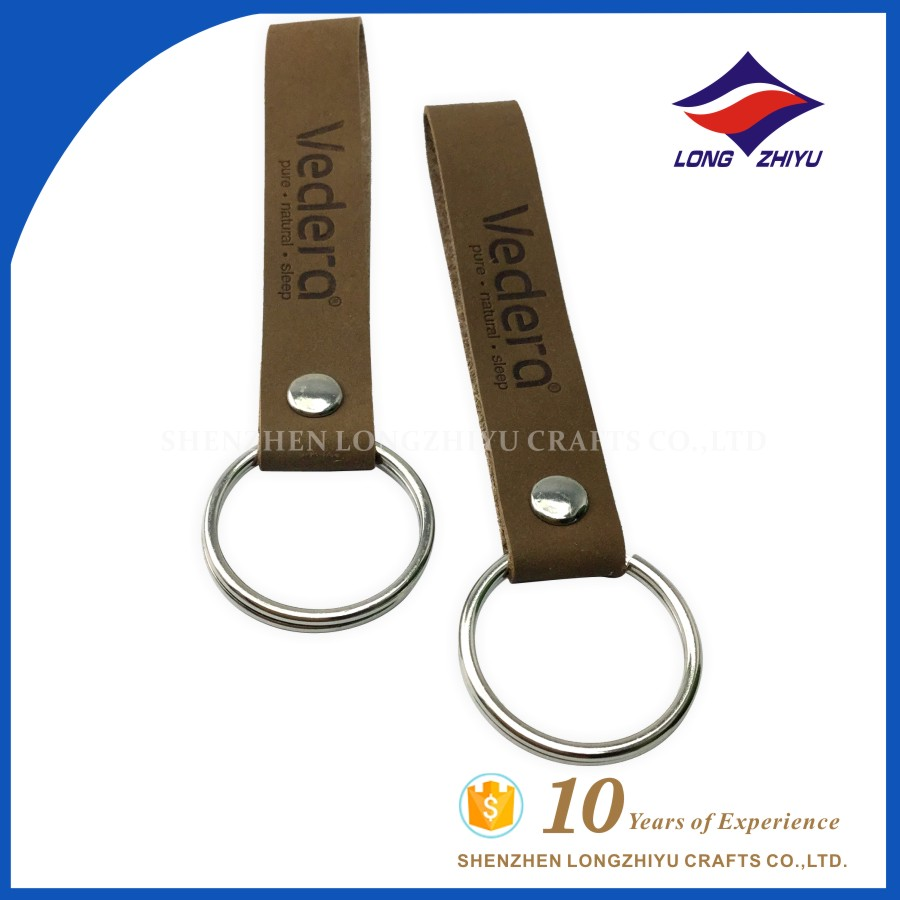 Custom leather PU keychain keyrings with embossing letters
