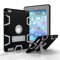 Waterproof Case For Tablet Kickstand Rubber Cover For iPad 2 3 4 Case