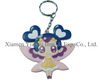 Custom made fancy PVC key ring, promotional key chain, cheaper key chain