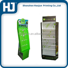 Promotion Paper Display Stand For Decorations Key Chain with Plastic Hooks PDQ Floor Rack Special Shape