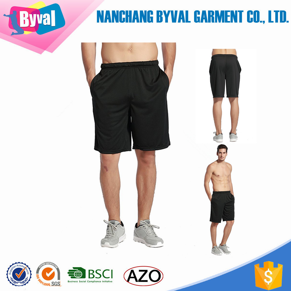mens jersey short dri fit polyester short running basketball shorts custom