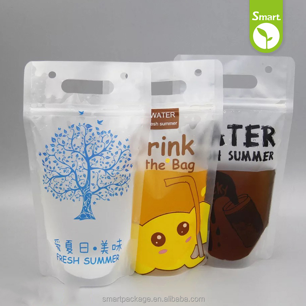 disposable Clear Drinking Beverage Bag/Transparent Plastic Bag for Beverage
