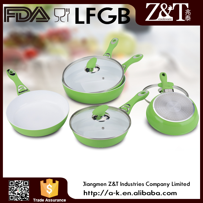 Charming Aluminum non-stick fry pan with 5 sizes