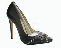 Studded straps sexy lady high heel shoes