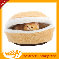 Hot selling pet dog products detachable hamburger pet house/dog beds/cat beds