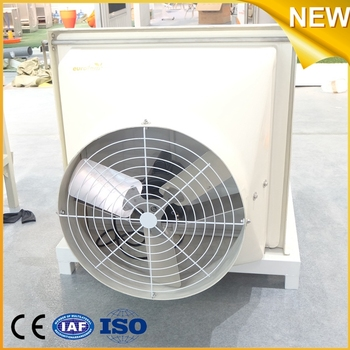 Fiber Glass Belt Driven Water Cooling Pad Air Cooling Fan 380volt for Poultry Farm