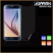 Wholesale 4H Hardness Clear Anti fingerprint Cell Phone For Samsung S6 screen protector