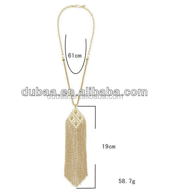 Fashion Women Vintage Style Gold Long Tassel Pendant Necklace Sweater Chain HOT